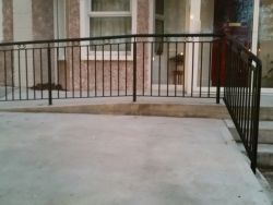 Wrought iron safety handrails